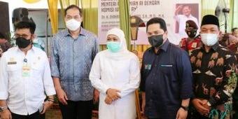 Tiga Menteri Bersama Gubernur Jatim Ikuti Panen Raya Padi di Tambakrejo Gresik