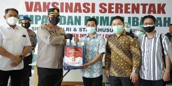 Kapolres Kediri Kota Pantau Vaksinasi di Gereja Kristen Indonesia Kediri
