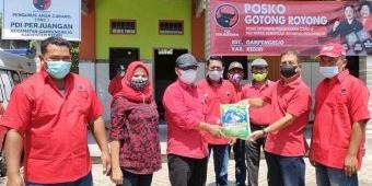 Usai Upacara HUT RI, DPC PDIP Kediri Launching Posko Gotong Royong Serentak di 26 Kecamatan