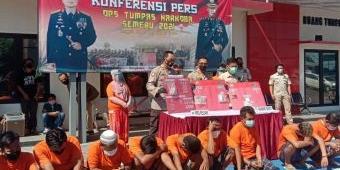 Operasi Tumpas Narkoba Semeru 2021, Polres Bangkalan Amankan 21 Tersangka