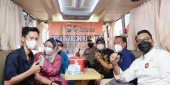 Jadikan Kawasan Tertib Vaksin, Polresta Sidoarjo Sedia Vaksinasi Mobile di Distrik Kuliner Merdeka