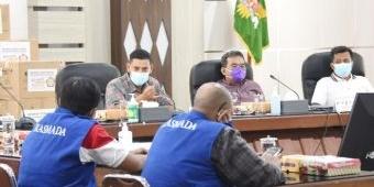 Terima Bantuan 1.142 Boks Masker, Wali Kota Kediri Harap Task Force Ikasmada Bisa Terus Berjalan