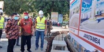 Plt Bupati Nganjuk Marhaen Djumadi Lanjutkan Pembangunan Pedestrian Koridor II