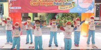 KB-TK Al Muslim Sidoarjo Peringati Hari Cuci Tangan Sedunia