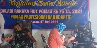Peringati HUT ke-75 Polisi Militer Angkatan Darat, Subdenpom V/4-3 Pamekasan Gelar Donor Darah
