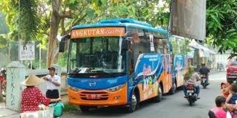 Antusiasme Angkutan Sekolah Gratis Melonjak, Dishub Kota Mojokerto Terapkan Prokes Ketat