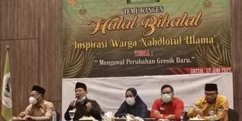 Bupati Gus Yani dan Wabup Bu Min Ajak Anggota Grup WA IWNU Kawal Pemerintahan Gresik Baru