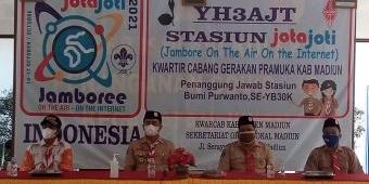 Pembukaan Jota-Joti, Wakil Bupati Madiun Ajak Pramuka Sosialisasikan Vaksinasi Covid-19