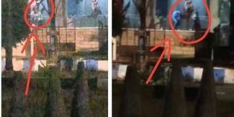 Viral! Dua Pasang Muda-Mudi Terekam Asyik Bermesraan di Alun-Alun Ponorogo