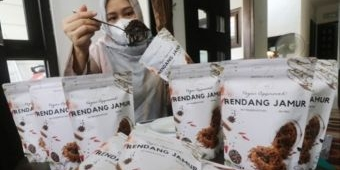 Baru 4 Bulan Jualan, Rendang Jamur Warga Kediri Tembus Mancanegara, Omzet Capai Belasan Juta Rupiah