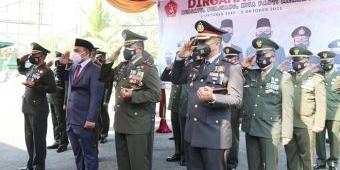 HUT TNI ke-76, Kodim Ngawi Ikuti Upacara Secara Virtual dan Potong Tumpeng