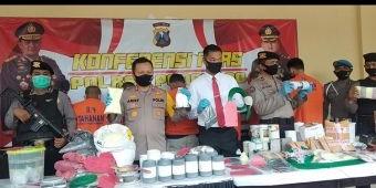 Polres Ponorogo Berhasil Tangkap 6 Pelaku Penjual dan Pembuat Serbuk Bahan Mercon