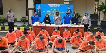 Dua Pekan Operasi Tumpas Narkoba, Polres Kediri Kota Ringkus 20 Pengedar