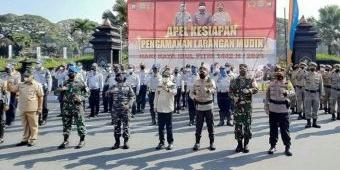 Bupati Sanusi Pimpin Apel Gelar Pasukan Pengamanan Mudik Lebaran 2021