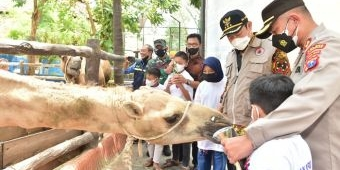 Berbagi Keceriaan, Polantas di Lamongan Ajak Ratusan Anak Yatim Korban Covid-19 Kunjungi Mazoola