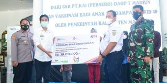 Pemkab Madiun Terima CSR dari PT KAI untuk Anak Terdampak Covid -19