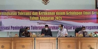 Wujukan Kerukunan Antar Umat Beragama, Pemkot Madiun Gelar Sosialisasi Peningkatan Toleransi