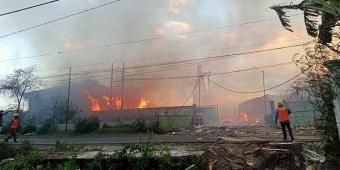 Pabrik Kayu di Probolinggo Ludes Terbakar, Kerugian hingga Miliaran Rupiah