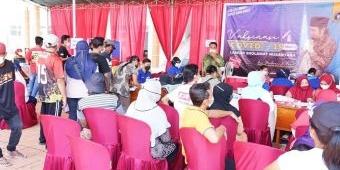 Gandeng Gerindra Jatim, Laskar Sholawat Nusantara Laksanakan Vaksinasi ke-2 di Al Qodiri 4