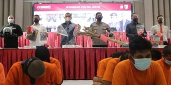 Polda Jatim dan Polres Jajaran Amankan 72 Anggota Pesilat Pelaku Kekerasan dan Pengerusakan